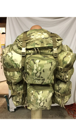 LBT-1749B Ten Pocket Ruck Backpack w/Suspension System London Bridge Multi-cam Excellent