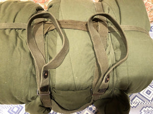 US Issue Vietnam ERA Strap Carrying Assembly + INTERMEDITE Sleeping Bag