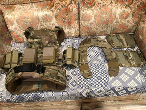 S.O. TECH MULICAM VIPER RELEASABLE PLATE CARRIER W/BELT SYSTEM + POUCHES SIZE MEDIUM