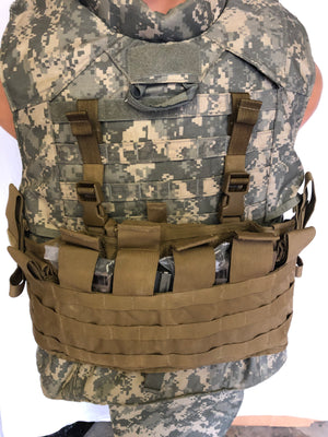 USMC Chest Rig TACTICAL ASSAULT PANEL MOLLE ll Coyote Brown USGI