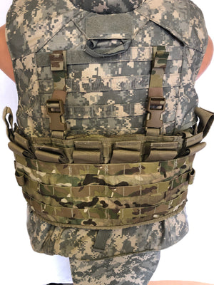 USGI MULTICAM MOLLE II TACTICAL ASSAULT PANEL TAP W SHOULDER STRAPS MAG HOLDER