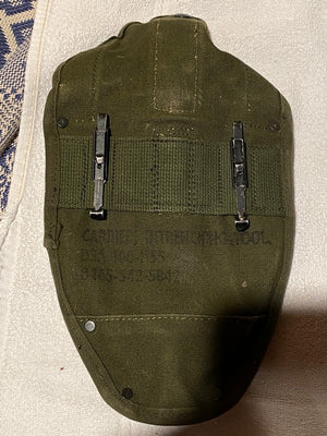 Vietnam Era US Military 1966 Folding Trench Shovel Canvas Sheath LMC 090