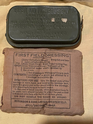 Vietnam Era US Aviators Combat Medic kit First Aid Bag + WW 2 ITEMS