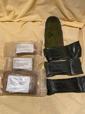 Vietnam Era M1956 NYLON First Aid Kit or Compass Pouch w/ Assorted Bandages