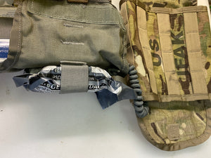 MILITARY MOLLE MULICAM IFAK POUCH W/ ACU MODIFIED FIRST AID INSERT (NO SUPPLYS)