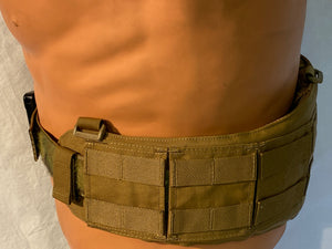 TYR TACTICAL COYOTE BROKOS BELT TYR-BKBLB W/CUSTOM MULTICAM GUN BELT SIZE LG