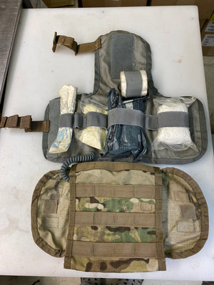 MILITARY MOLLE MULICAM IFAK POUCH W/ ACU MODIFIED FIRST AID INSERT (W/SUPPLIES)