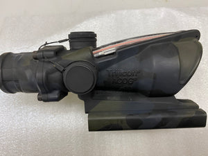 MILITARY ISSUE TRIJICON ACOG 4X32 TA31RCO-M150CP/ CUSTOM CAMOUFLAGED