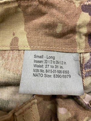 "SCORPION FLAME RESISTANT, ARMY COMBAT UNIFORM TROUSER, SMALL-LONG,""NEW"""