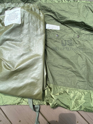 "US Military Issue Casualty Down Insulated Olive Green Evacuation Bag,Liner & Carrier""NEW"""