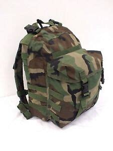 US Military Patrol Pack MOLLE II Woodland Camo Backpack With Pad & Stiffener
