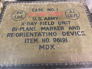 """RARE"" WWII U.S. ARMY X-RAY FIELD UNIT BI-PLANE MARKER AND RE-ORIENTATING DEVICE."
