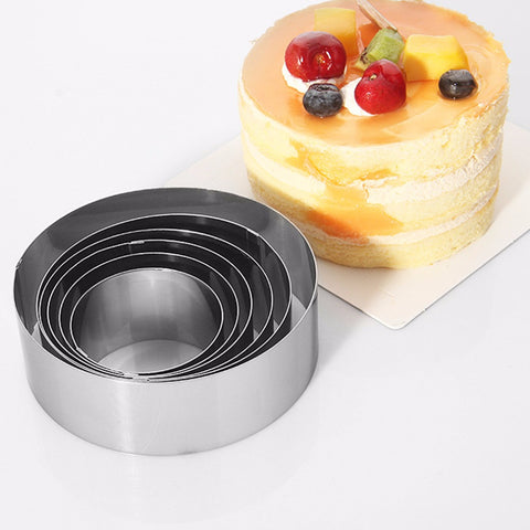 6Pcs/Set Stainless Steel Cake Mold