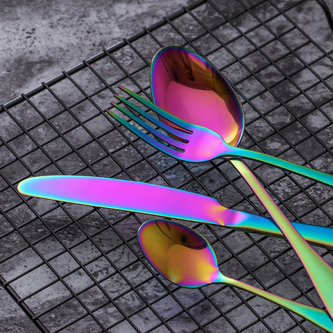 Stainless Steel Rainbow Cutlery Set