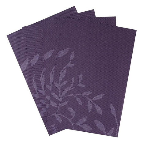 4 Pcs PVC Flower Place Mats
