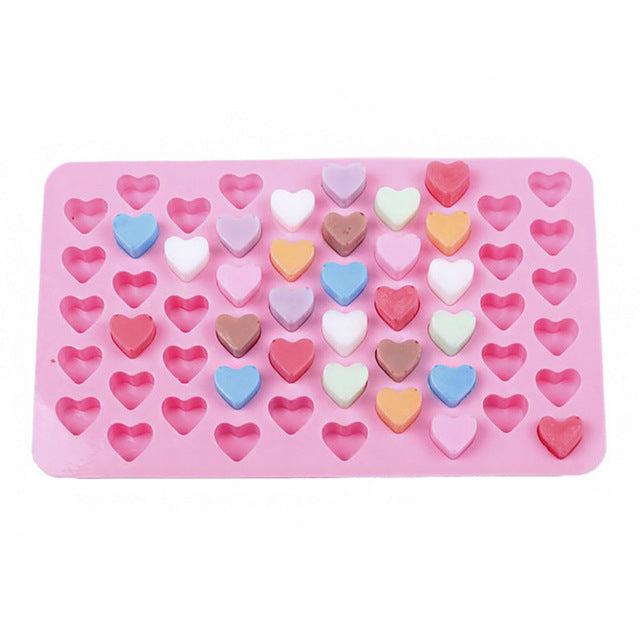 55 Holes Mini Heart Silicone Mold