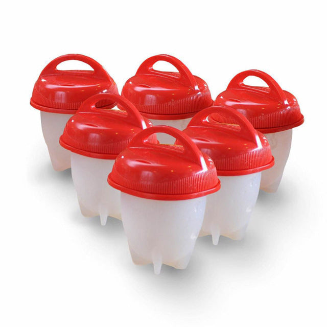6 pcs Silicone Egg Cooker