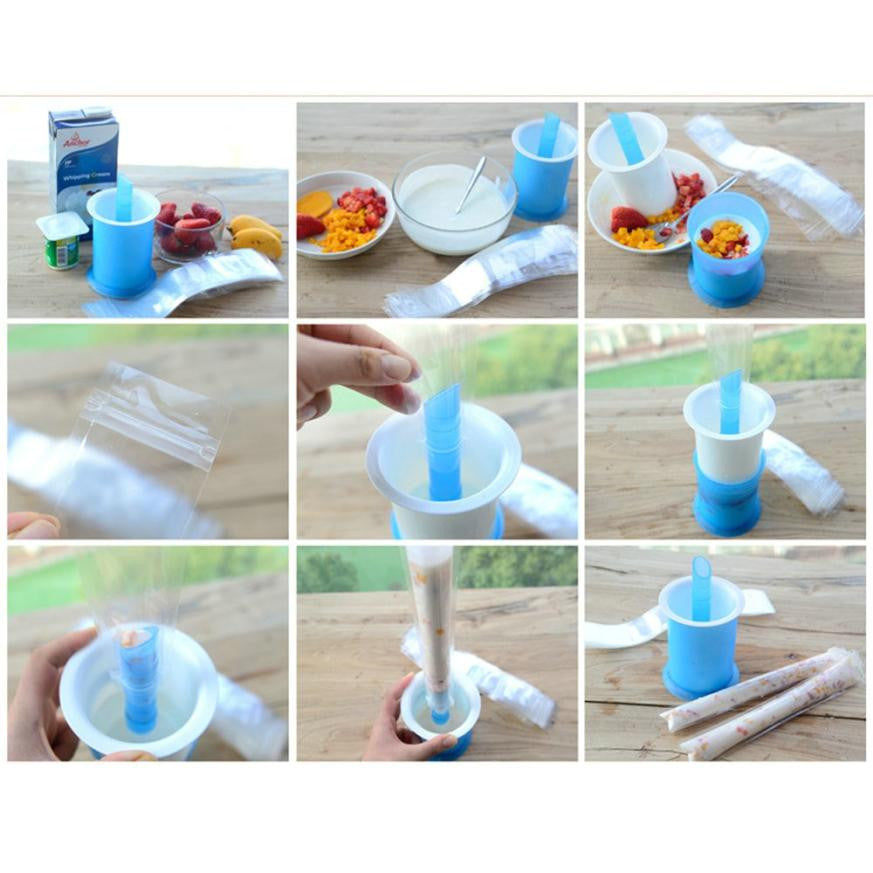 Ice Cream Maker & 20 pcs Reusable Pop Sleeves