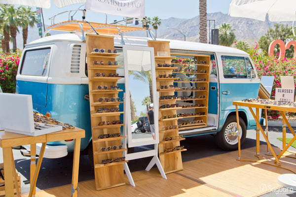 Promised Land LA sunglass bus mobile store