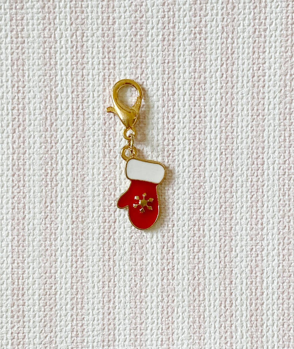 Christmas Glove Red / Stitch Marker