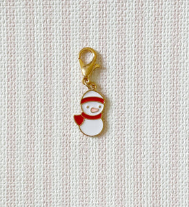 Christmas Snowman Red / Stitch Marker