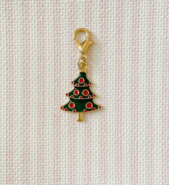 Christmas Tree Green and Red / Stitch Marker