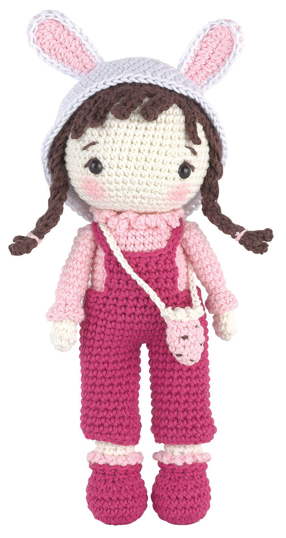 Crochet Amigurumi Kit - Anna The Little Bunny Girl
