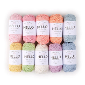 Hello Cotton Yarn Color Pack - Pastel [50gr x 10]