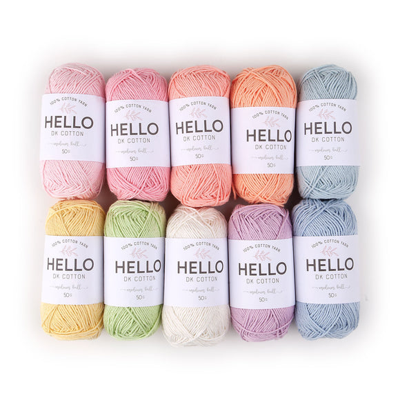 Hello Cotton Yarn Color Pack - Pastel [25gr x 10]