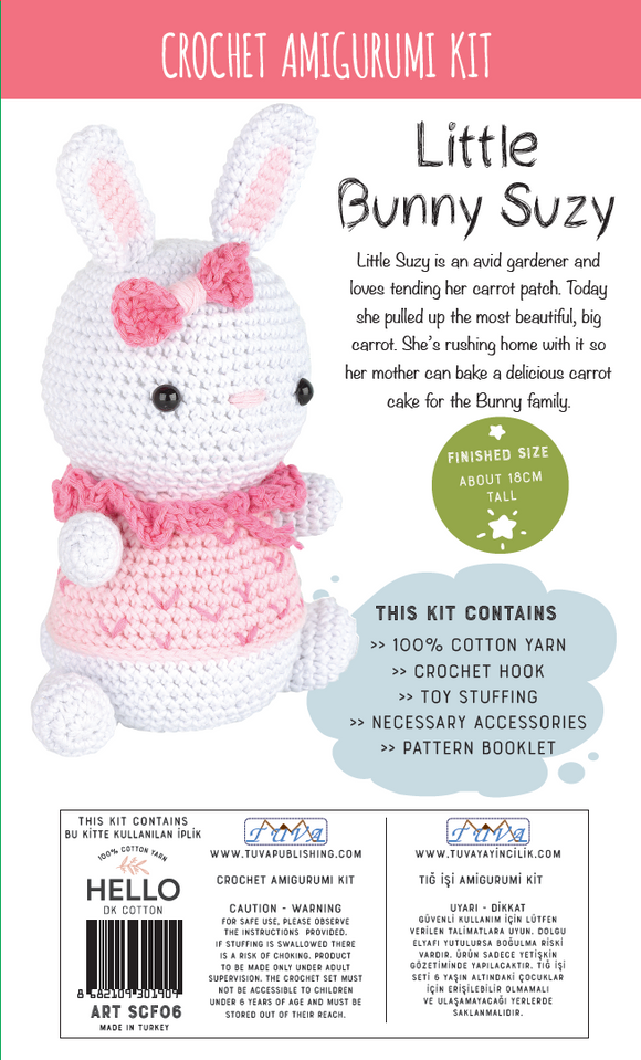 Crochet Amigurumi Kit - Little Bunny Suzy