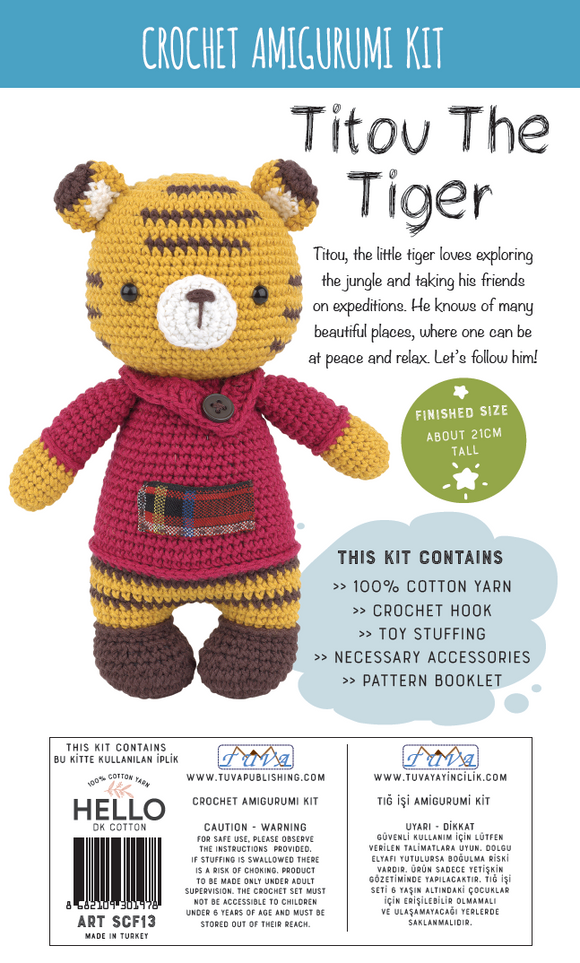 Crochet Amigurumi Kit - Totou The Tiger