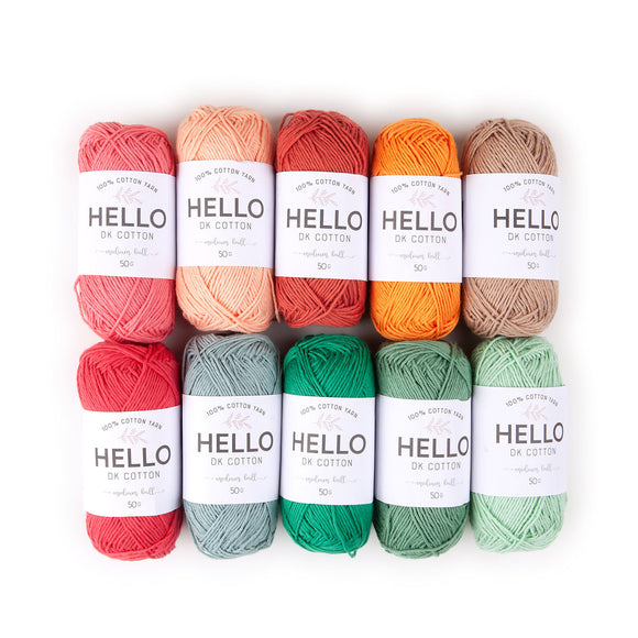 Hello Cotton Yarn Color Pack - Earth [50gr x 10]