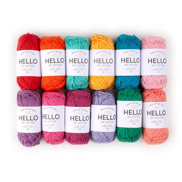 Hello Cotton Yarn Color Pack - Tropical [50gr x 12]