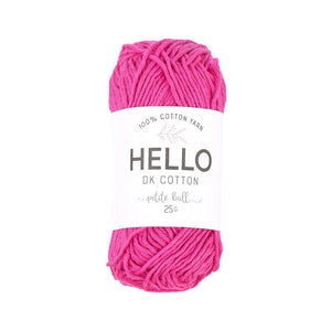 Hello Cotton 104 - Carmine Rose
