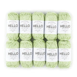 Hello Cotton 129 - Shadow Lime