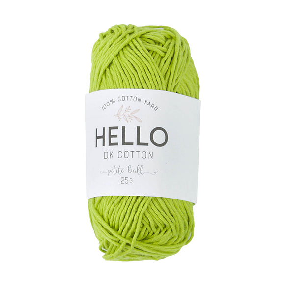 Hello Cotton 131 - Lime Green