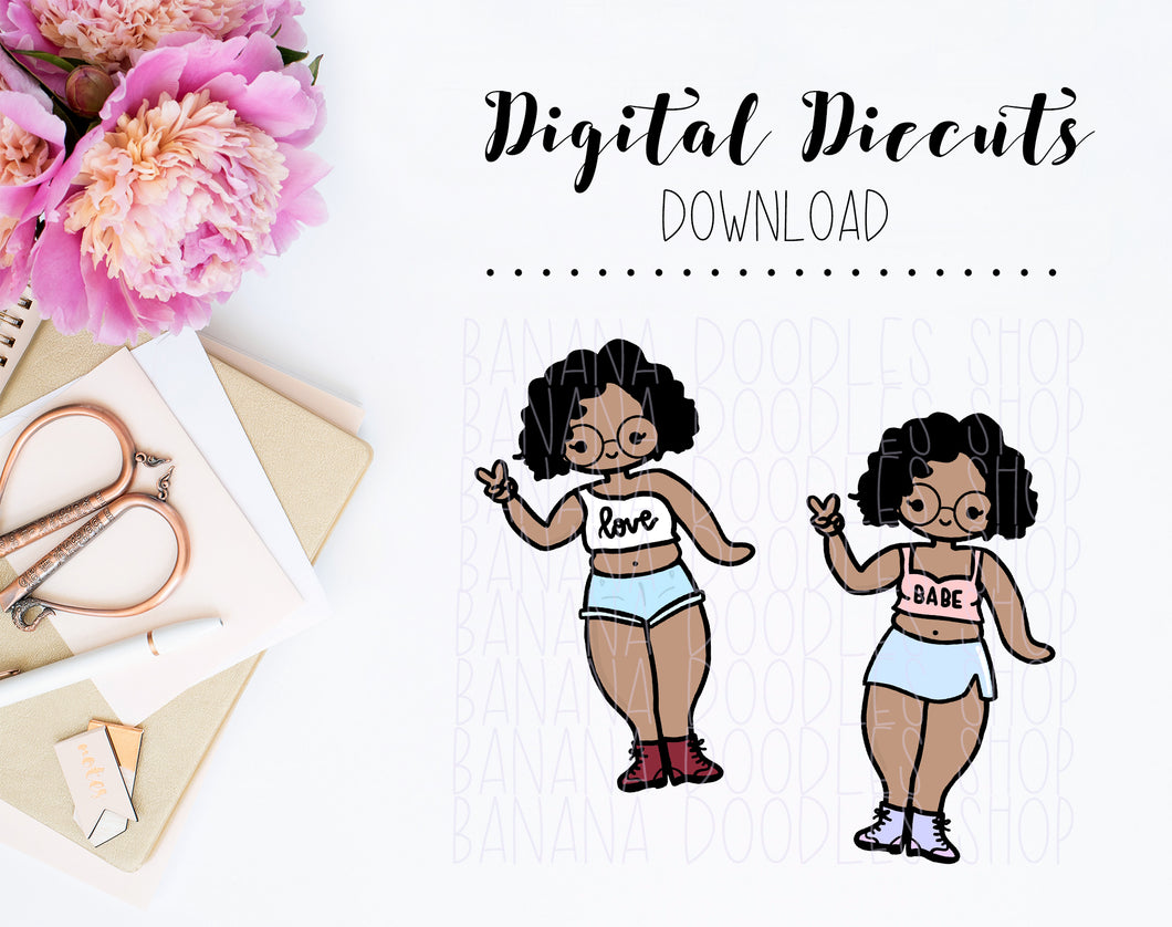 Digital Diecuts - Maya Thick Babe Diecut Set (2 Pieces)