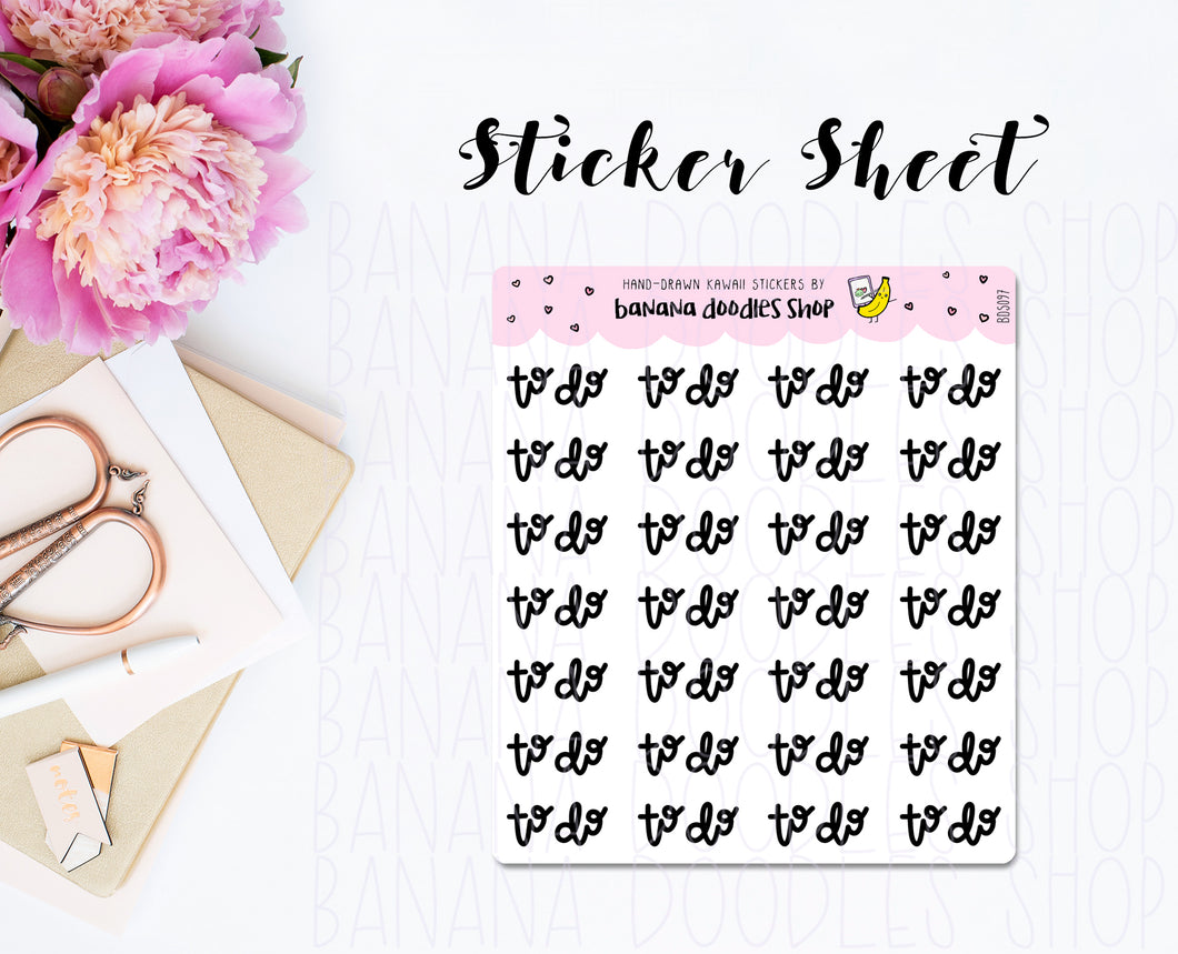 Lettered: To Do Small Stickers