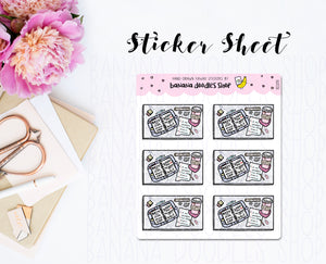 Planner Desk Flatlay Stickers