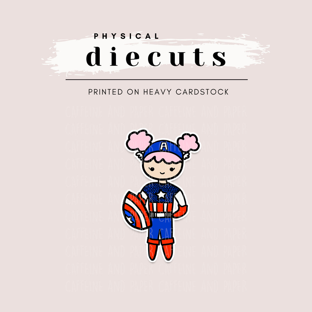Diecut - Lola as Avengers Captain America