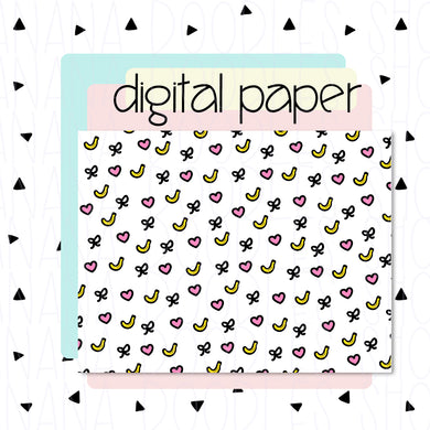 Digital Paper - Banana Love