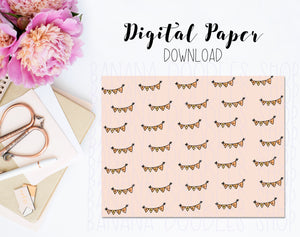 Digital Paper - Fall Bunting