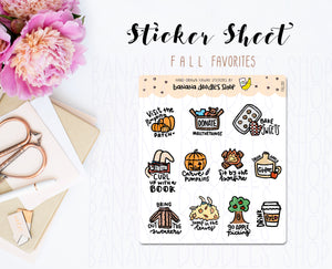 Seasonal: Fall Favorites Stickers