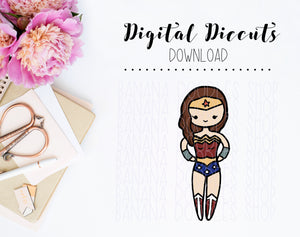 Digital Diecut - Lola as Wonder Woman