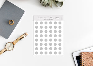 Minimalistic Transparent Dot Stickers (2 Sizes Available) - GRAY