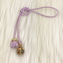 Monkey Fist Knot Leather Bookmark with Iridescent Gem Charm