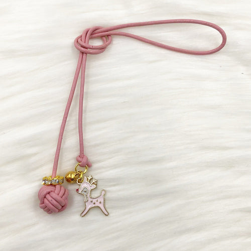 Limited Edition Monkey Fist Knot Bookmark with Pink Rudolph