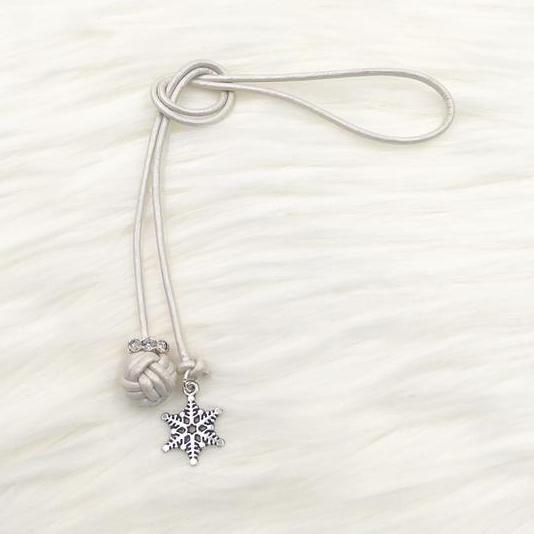 Limited Edition Monkey Fist Knot Bookmark with Silver Snowflake