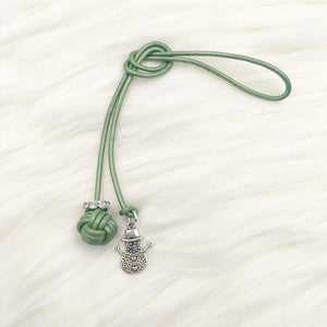 Limited Edition Monkey Fist Knot Bookmark with Silver Snowman