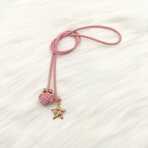 Monkey Fist Knot Leather Bookmark with Star Charm